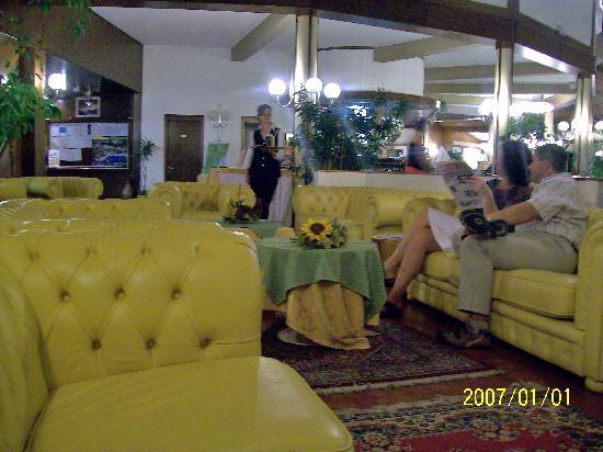 Hotel Le Balze: le salon: agrable et la serveuse gentille,polie