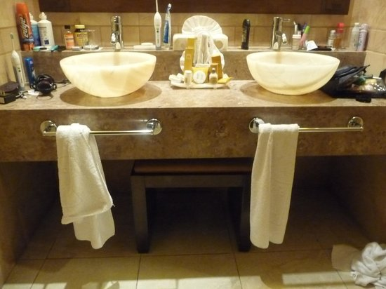 Bathroom Sinks Double Basin bathroom with double bowl sinks - picture of barcelo maya beach