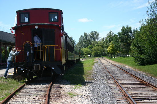 Waterloo Central Railway: Tour the caboose while at the station