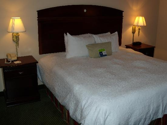 Hampton Inn Clinton: King size bed