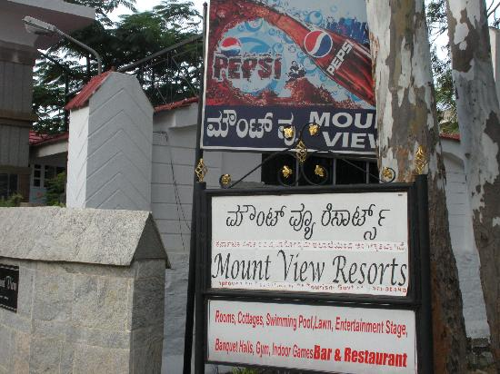 Mount View Resort: the entrance