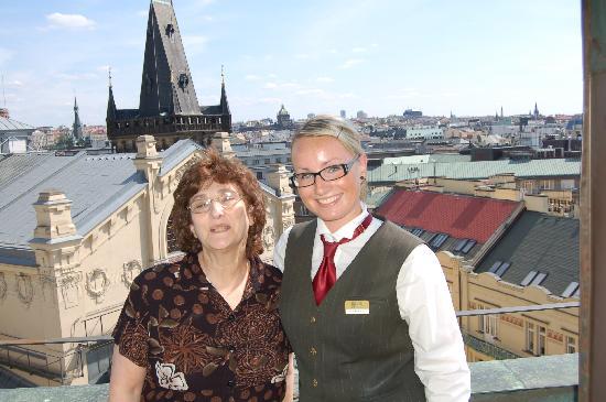 Hotel Paris Prague: With the Concierge & a view of the city