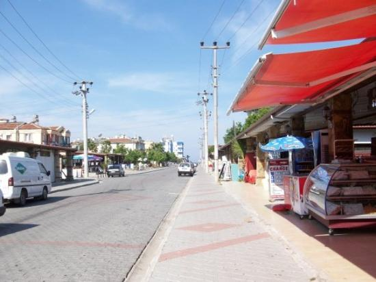 Plage de Calis : Main street in Calis - yeah quite quiet but the festival was starting that day so no doubt it go