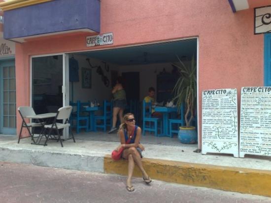 Playa Mujeres, Mexico: Cafecito en Isla Mujeres