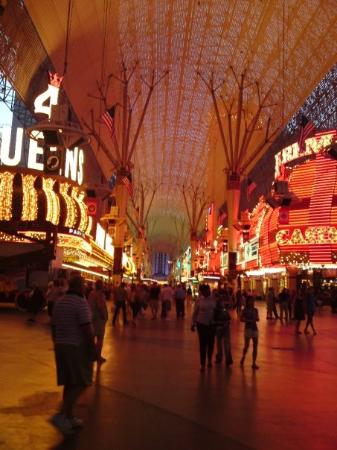 Fremont Street Experience: Fremont Street at night.