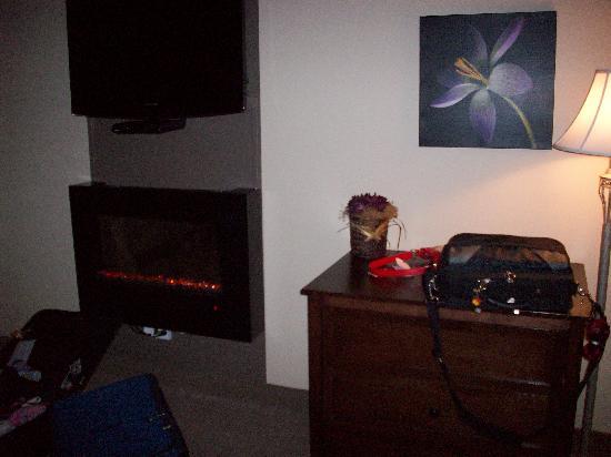 Comfort Inn & Suites: Fire place!