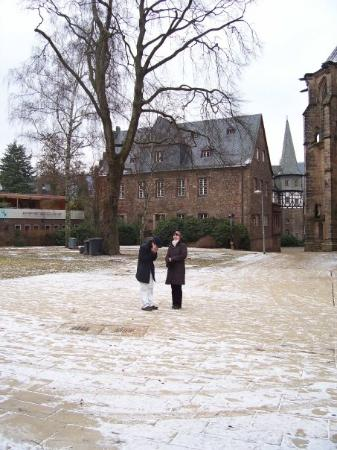 Marburg, เยอรมนี: In front of the building that Daniel studies and works in - the Geographical Sciences building r