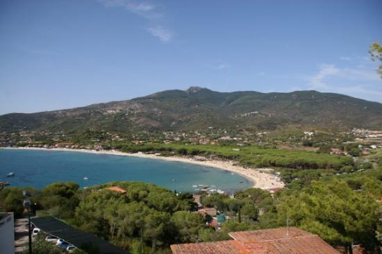 Marina di Campo, อิตาลี: usblick vo de obere bungalos