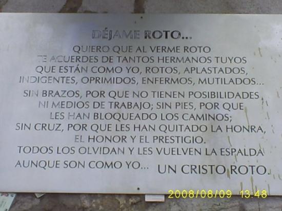 La Leyenda Del Cristo Roto Picture Of Aguascalientes