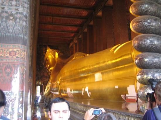 วัดพระแก้ว: Liegender goldener Buddha, 45 Meter lang und 15 Meter hoch. Echt cool!
