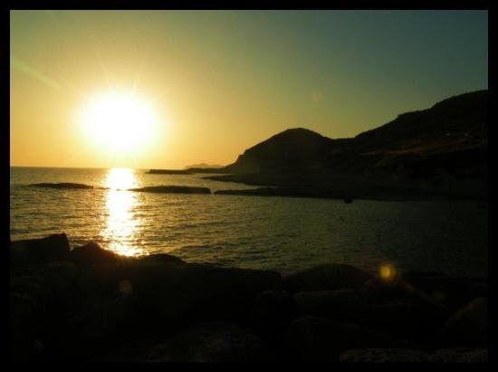 Sunset in Bosa