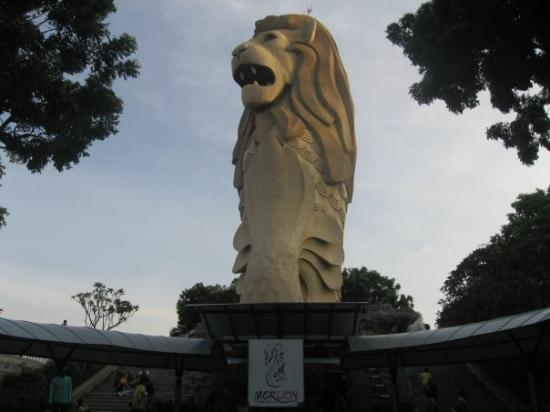 เกาะเซนโตซา, สิงคโปร์: Merlion, symbol of Singapore...heard it's the 10th most expensive city.