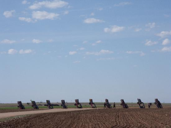 Cadillac Ranch between exit 60 and 62 off Interstate 40