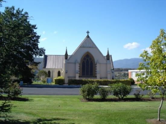 St Matthew's Church at New Norfolk, one of the oldest churches in Australia