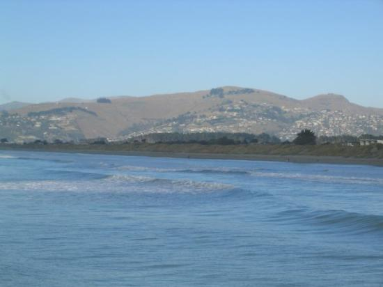 Banks Peninsula: Taken from the pier looking towards the Port Hills.