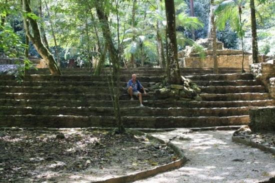 Frank at the ancient Maya city of Palenque, Chiapas, Mexico