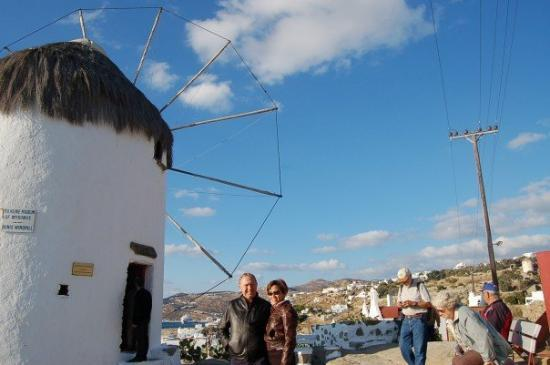 The Windmills (Kato Milli): the proof that we are in Mykonos, Greece