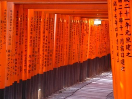 ศาลเจ้าฟูชิมิ อินาริ: Tienen inscripciones por un lado