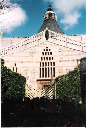 นาซาเร็ธ, อิสราเอล: La basílica de la Anunciación en Nazareth. Increíble, no llueve.