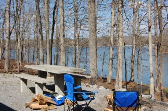 Kuttawa, KY: Our campsite at Kentucky Lake