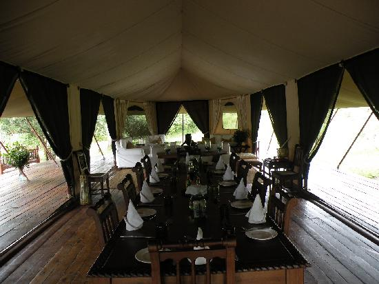 Serian Safari: the dining tent