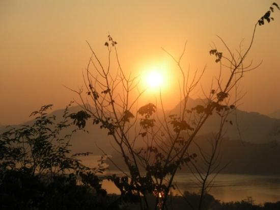Mount Phousi: Sunset from Mt Phousi in Luang Prabang