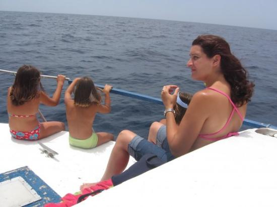 Puerto de Mogan (หมู่บ้านปวยร์โต เด โมกัน), สเปน: En busca de delfines, tú los vistes? porque yo no, jajaja