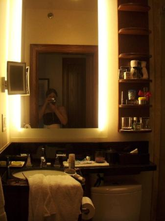 Fairmont Banff Springs: the bathroom with motion sensor lights :D