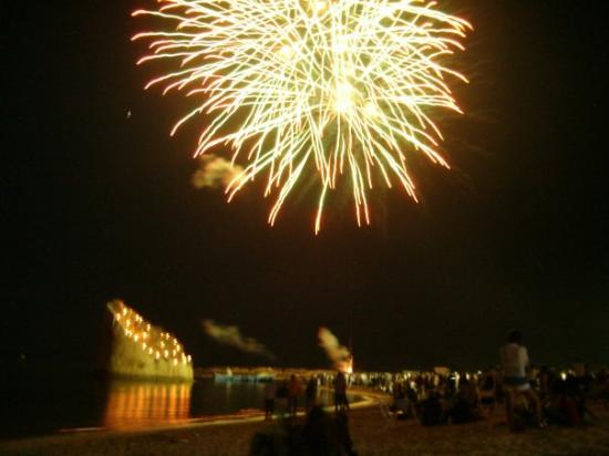 Marina San Gregorio, Italy: festa a torre pali