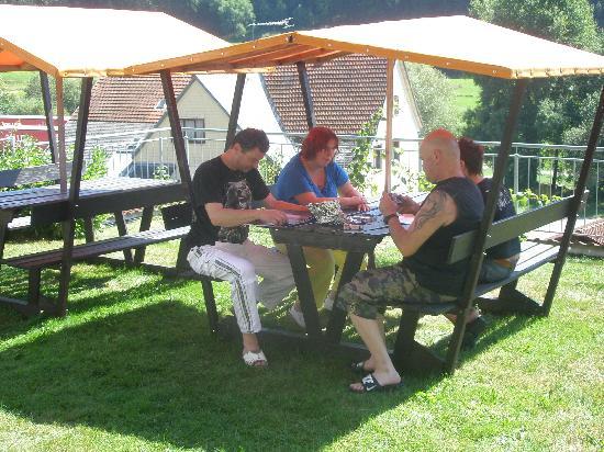 Pension Waldwinkel: Im Garten
