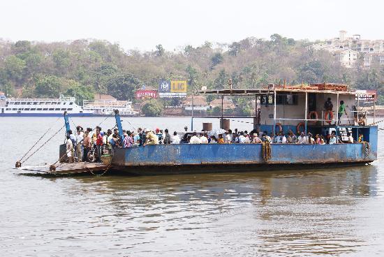 Crossing River Mandovi,Panjim,Goa.