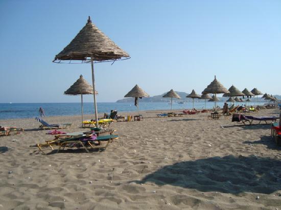 Olympos Beach Resort : spiaggia attrezzata