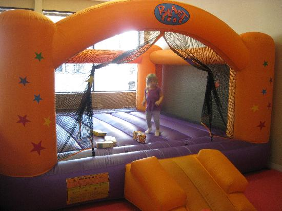 Hopscotch's Playplace: My daughter in one of the Bounce Houses