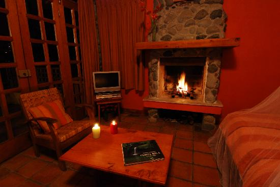 Int rieur chaleureux picture of chalet orosi orosi for Interieur chalet