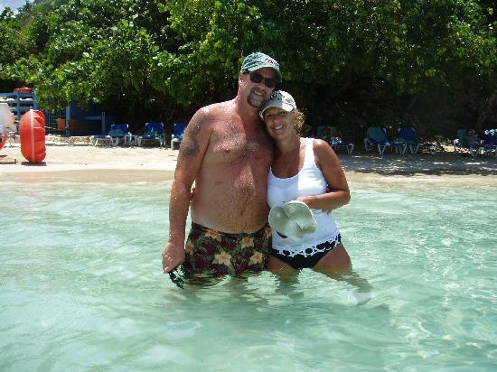 Sandals Ochi Beach Resort: West end beach