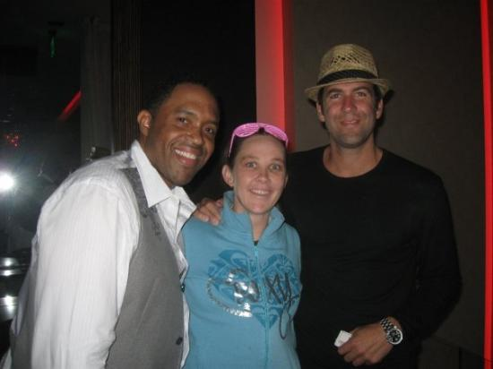 LA Comedy Club: Rubin (Jamie Fox's cousin), Myself and Mike. L.A. Comedy Club after their Gig. Mmmmm Mike Young!