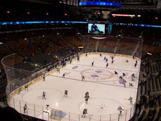 The Air Canada Centre: warm up time