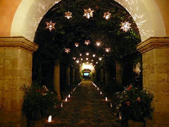 Hacienda Las Trancas: the Garden at night