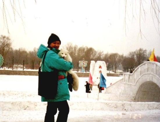 ฮาร์บิน, จีน: with white fox, in Harbin China