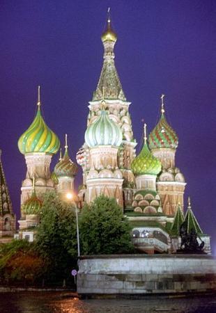มอสโก, รัสเซีย: St. Basil's Cathedral in Red Square, Moscow