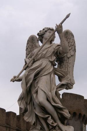 vatican city italy one of the angel statues on the bridge of angels