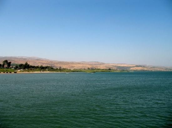 Tiberias, Israel: Lac de Tibériade : traversée en bateau