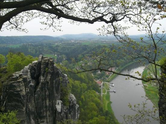 Bad Schandau, Duitsland: Blick auf die Elbe