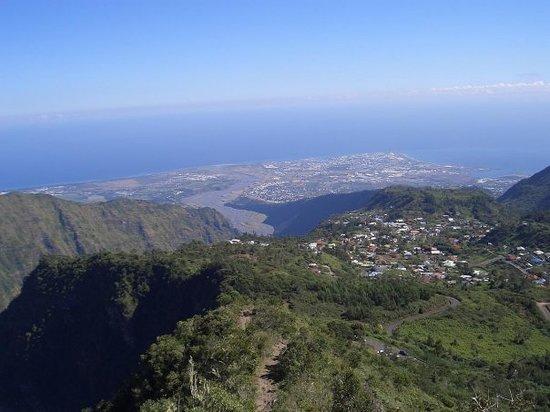 Saint-Denis, Reunion Island: Vue de la mer depuis Dos d'Ane
