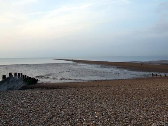 Whitstable beach. Low tide