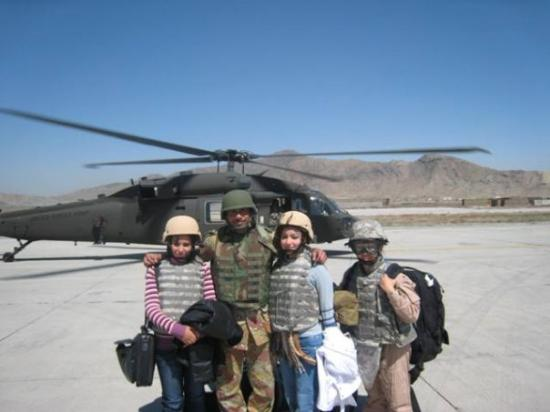 Kabul, อัฟกานิสถาน: We just flew on a blackhawk from Bagram