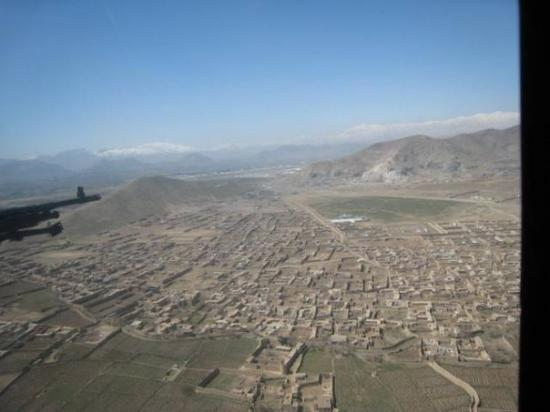 Kabul, อัฟกานิสถาน: View of the valley from inside the blackhawk