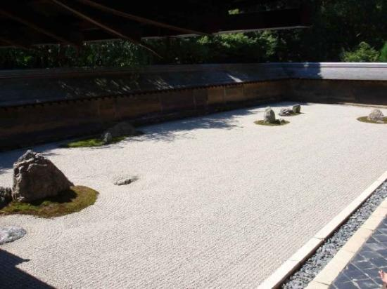 Ryoanji temple, the most famous Japanese zen garden