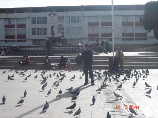 Plaza de armas de Juliaca.