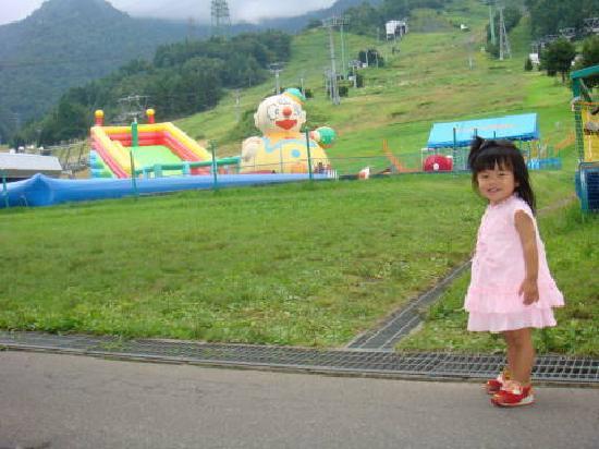 Naeba Ski Resort : 子供向けの遊具なども設置されています
